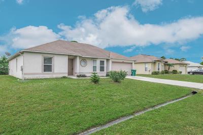 Port Saint Lucie Single Family Home For Sale: 274 SW Twig Avenue