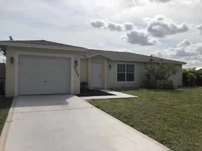 Port Saint Lucie Single Family Home For Sale: 4553 SW Bradbury Street