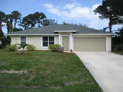 Port Saint Lucie Single Family Home For Sale: 1309 SE Sandia Drive
