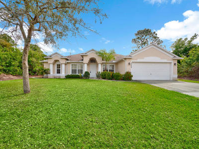 Port Saint Lucie Single Family Home For Sale: 4609 SW Masefield Street