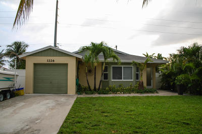 Boynton Beach Single Family Home For Sale: 1226 NW 7th Street