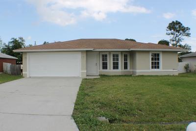 Port Saint Lucie Single Family Home For Sale: 327 NW Byron Street