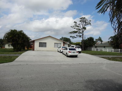 Lake Worth Multi Family Home For Sale: 4707 Clinton Boulevard