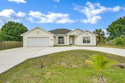 Port Saint Lucie Single Family Home For Sale: 3682 SW Port Saint Lucie Boulevard