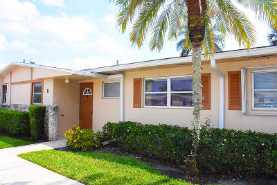 West Palm Beach Single Family Home For Sale: 2787 Dudley Drive W #H