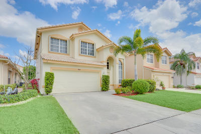 Boynton Beach Single Family Home For Sale: 7531 Colony Palm Drive