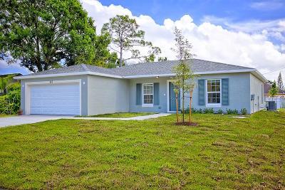 Port Saint Lucie Single Family Home For Sale: 386 SW Grimaldo Terrace