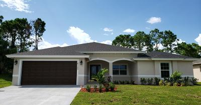 Port Saint Lucie Single Family Home For Sale: 6135 NW Densaw Terrace