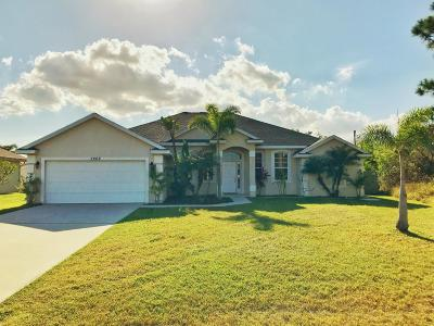 Port Saint Lucie Single Family Home Contingent: 5208 NW Lovoy Circle S