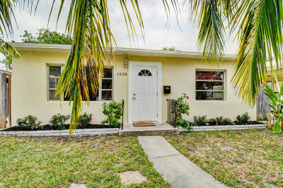 Lake Worth Single Family Home For Sale: 1528 O Street