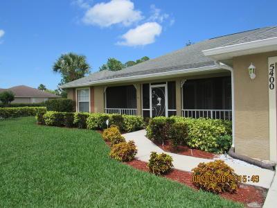 Fort Pierce Single Family Home For Sale: 5400 Stately Oaks Street