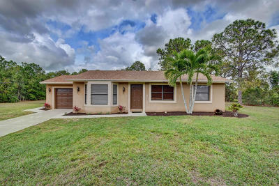 Loxahatchee Single Family Home For Sale: 14607 Citrus Boulevard
