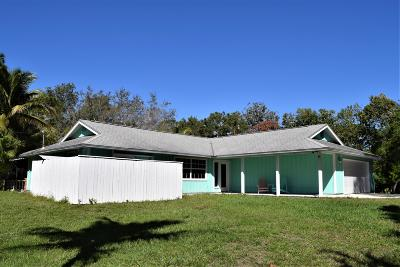 Jupiter Single Family Home For Sale: 16281 Randolph Siding Road