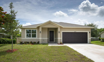 Port Saint Lucie Single Family Home For Sale: 1811 SE Aires Lane