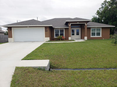 Port Saint Lucie Single Family Home For Sale: 622 SW Sardinia Avenue