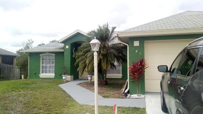 Port Saint Lucie Single Family Home For Sale: 943 SW McHord Avenue