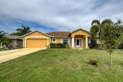 Port Saint Lucie Single Family Home For Sale: 241 SW Chandler Terrace