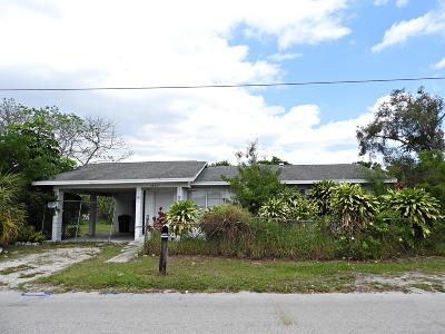Fort Pierce Single Family Home For Sale: 2802 Avenue B