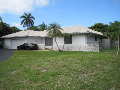 Boca Raton FL Single Family Home For Sale: $550,000