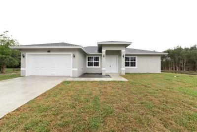 Loxahatchee Single Family Home For Sale: 17150 93rd Road