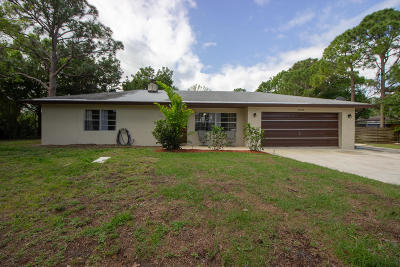 Fort Pierce Single Family Home For Sale: 1605 Bartow Street