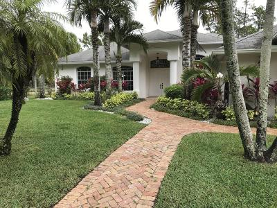 Loxahatchee Single Family Home For Sale: 17495 Orange Grove Boulevard