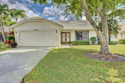 Boca Raton Single Family Home For Sale: 6098 Petaluma Drive