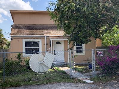 West Palm Beach Single Family Home For Sale: 4386 Palm Avenue