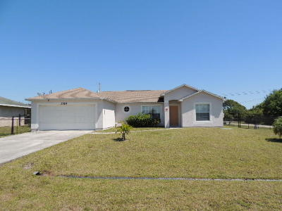 Port Saint Lucie Single Family Home For Sale: 3789 SW Haines Street