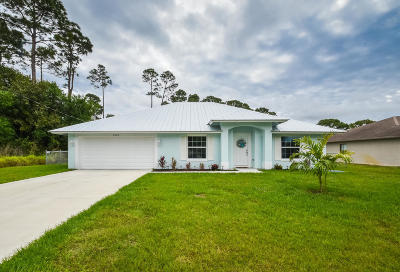 Port Saint Lucie Single Family Home For Sale: 2865 SW Collings Drive
