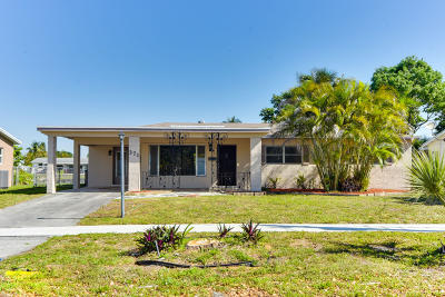 Pompano Beach Single Family Home For Sale: 371 NW 38th Place