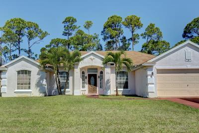 Port Saint Lucie Single Family Home For Sale: 309 SE Voltair Terrace