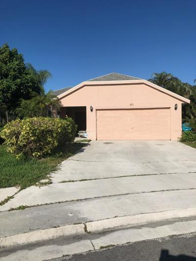 Boynton Beach Single Family Home For Sale: 60 Heather Cove Drive