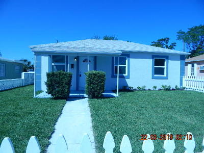 West Palm Beach Single Family Home For Sale: 824 W 4th Street