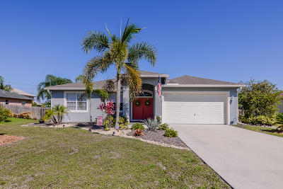 Port Saint Lucie Single Family Home Contingent: 236 SW Milburn Circle