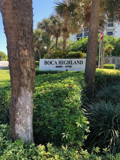 Highland Beach Condo For Sale: 4740 S Ocean Boulevard #1210
