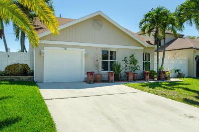 Boynton Beach Single Family Home For Sale: 141 Tara Lakes Drive W