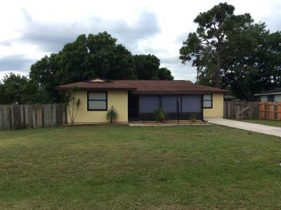Fort Pierce Single Family Home For Sale: 6905 Citrus Park Boulevard