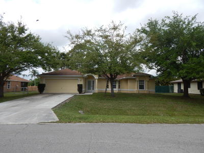 Port Saint Lucie Single Family Home For Sale: 708 NE Jordan Terrace