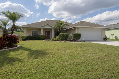 Port Saint Lucie Single Family Home For Sale: 2410 SW Aberdeen Street
