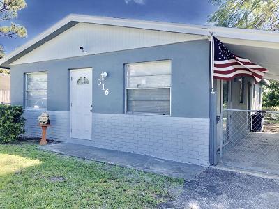 Jupiter Single Family Home For Sale: 316 6th Street