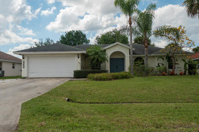 Port Saint Lucie Single Family Home For Sale: 3350 SW Foremost Drive