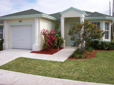 Boynton Beach Single Family Home Contingent: 468 Circle Drive S
