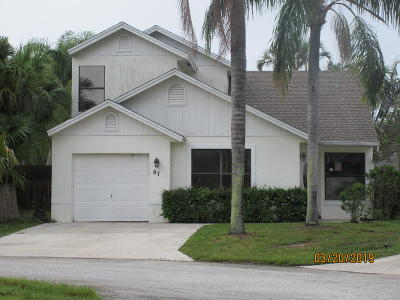 Boynton Beach Single Family Home Contingent: 87 Magnolia Circle