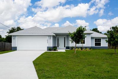 Port Saint Lucie Single Family Home For Sale: 1033 SW Coleman Avenue