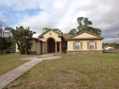 West Palm Beach Single Family Home For Sale: 7887 140th Avenue