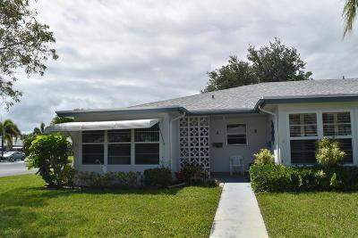 delray beach Single Family Home For Sale: 1087 Cir Terrace W #A