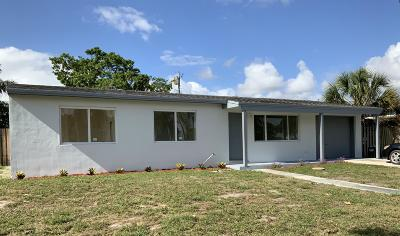 Lake Worth Single Family Home Contingent: 1919 Moor Drive