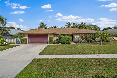 Palm Beach Gardens Single Family Home Contingent: 2549 Pepperwood Circle S
