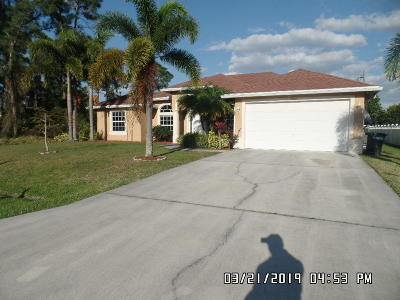 Port Saint Lucie FL Single Family Home For Sale: $295,000